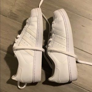 adidas Shoes - Adidas all white superstar unisex size 6 (women 7)